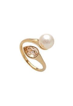 LILY AND ROSE Ella Pearl Ring Ivory Bubbleroom.se