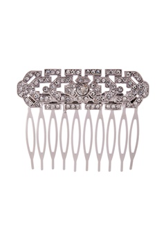 LILY AND ROSE Ellinor Comb Crystal/silver Bubbleroom.se