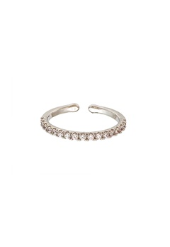 LILY AND ROSE Kennedy Ring Crystal (Silver) Bubbleroom.se