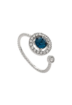 LILY AND ROSE Miranda Ring Silver Blue Bubbleroom.se