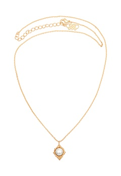LILY AND ROSE Miss Bonnie Necklace Ivory/gold Bubbleroom.se