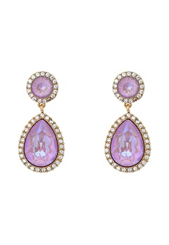 LILY AND ROSE Miss Charlotta Earrings Lilac Rainbow/gold Bubbleroom.se