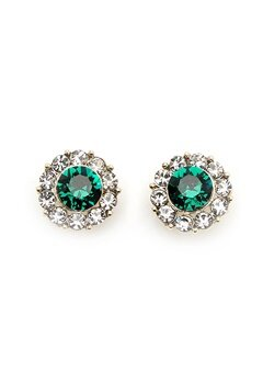 LILY AND ROSE Miss Sofia Earrings Emerald Bubbleroom.se