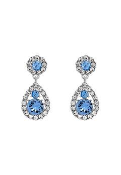 LILY AND ROSE Petite Sofia Earrings Light Sapphire Bubbleroom.se