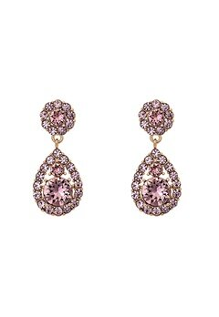 LILY AND ROSE Petite Sofia Earring Rose Peach/Gold Bubbleroom.se