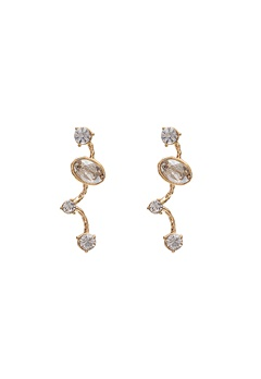 LILY AND ROSE Petite Siri Earrings Crystal/Gold Bubbleroom.se