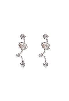 LILY AND ROSE Petite Siri Earrings Crystal/Silver Bubbleroom.se
