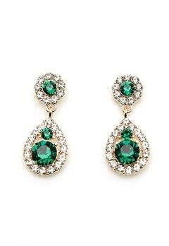 LILY AND ROSE Petite Sofia Earrings Emerald Bubbleroom.se