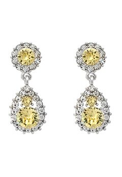 LILY AND ROSE Sofia Earrings Crystal Citrine Bubbleroom.se