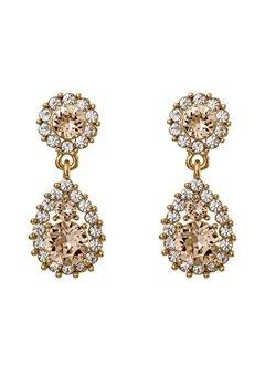 LILY AND ROSE Sofia Earrings Light Silk Bubbleroom.se