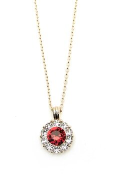 LILY AND ROSE Sofia Necklace Scarlett Red Bubbleroom.se