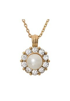 LILY AND ROSE Sofia Pearl Necklace Ivory Bubbleroom.se
