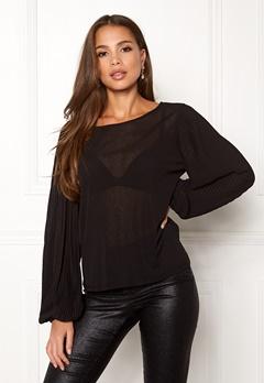 VILA Lisli L/S T-shirt Black Bubbleroom.se