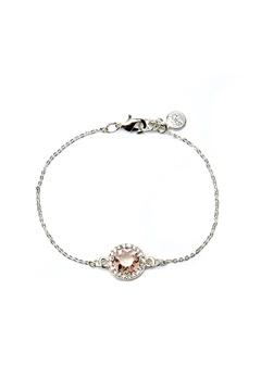SNÖ of Sweden Lissy Chain Bracelet Silver/Vintage Rose Bubbleroom.se