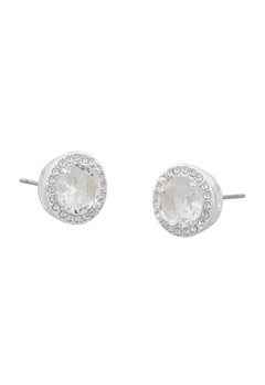 SNÖ of Sweden Lissy Stone Earrings Silver/Clear Bubbleroom.se