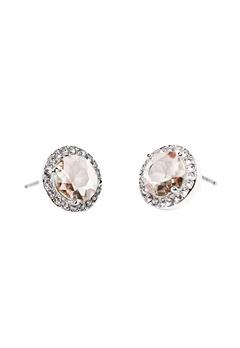 SNÖ of Sweden Lissy Stone Earrings Silver/Vintage Rose Bubbleroom.se