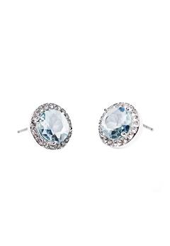 SNÖ of Sweden Lissy Stone Earrings Silver/Sapphire Bubbleroom.se