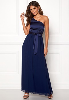 Little Mistress Megan Oneshoulder Dress Navy Bubbleroom.se