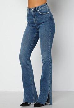 Lojsan Wallin x BUBBLEROOM Slit jeans Medium blue bubbleroom.se