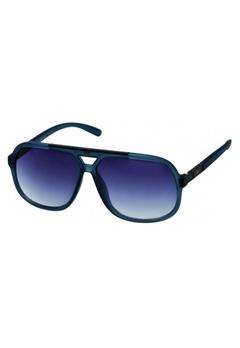 Le Specs Long Beach Sunglasses matta denim /musta metalli Bubbleroom.fi