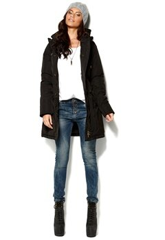 MAISON SCOTCH Long Nylon Jacket Black Bubbleroom.se