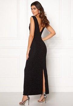 DRY LAKE Loreen Lurex Dress 008 Black Glitter Bubbleroom.se
