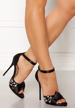 LOST INK Leo Strap Heeled Sandal Black Bubbleroom.se