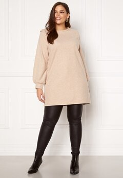 Only Carmakoma Louse LS Tunic Sweat Cement Bubbleroom.se