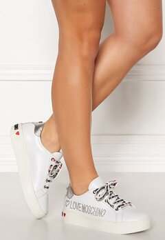 Love Moschino Moschino Leather Sneakers White Bubbleroom.se