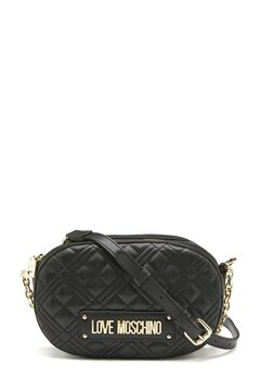 Love Moschino New Shiny Quilted Bag 000 Black Bubbleroom.se