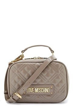 Love Moschino New Shiny Quilted Bag 001 Grey Bubbleroom.se