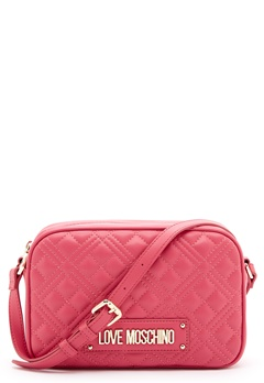 Love Moschino New Shiny Quilted Bag 604 Fuxia Bubbleroom.se