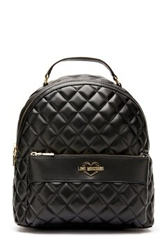 Love Moschino Quilted Backpack Black/Gold Bubbleroom.se
