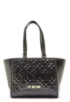 Love Moschino Quilted Bag Black Bubbleroom.se