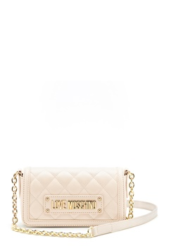 Love Moschino Quilted Chain Bag Ivory Bubbleroom.se