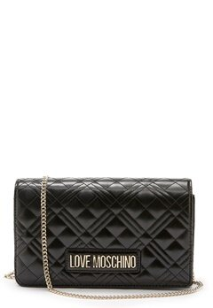 Love Moschino Quilted Evening Bag Black Bubbleroom.se