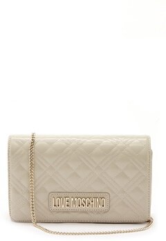 Love Moschino Quilted Evening Bag Ivory Bubbleroom.se