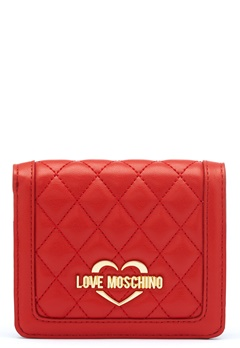 Love Moschino Quilted Wallet Red Bubbleroom.se