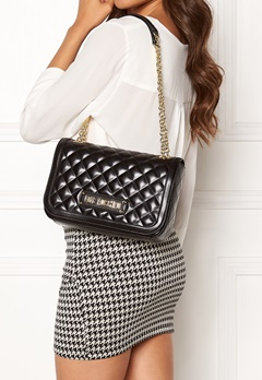 Love Moschino Shiny Quilted Bag Black Bubbleroom.se