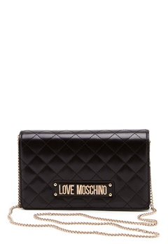Love Moschino Small Quilted Chain Bag Black Bubbleroom.se