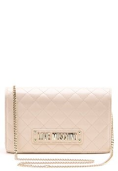 Love Moschino Small Quilted Chain Bag Ivory Bubbleroom.se