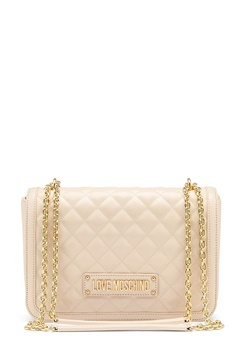 Love Moschino Small Quilted Handbag Ivory Bubbleroom.se
