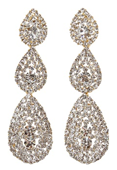 Love Rocks Byzanine Pave Earring Gold Bubbleroom.fi