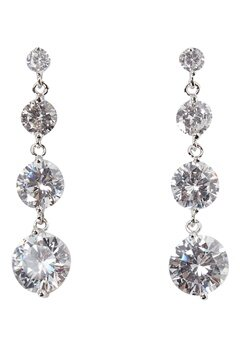 Love Rocks CZ Drop Earrings Silver Bubbleroom.se
