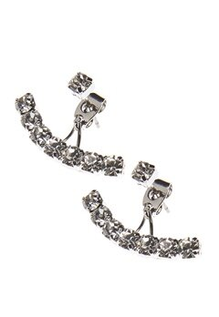 Love Rocks Multi Crystal Earring Silver Bubbleroom.se
