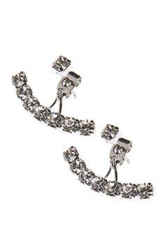 Love Rocks Multi Crystal Earring Silver Bubbleroom.fi