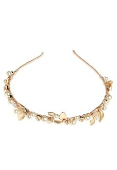 Love Rocks Pearl Tiara Gold/white Bubbleroom.se