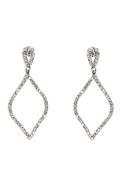 Love Rocks Persian Shape Earring Silver Bubbleroom.se