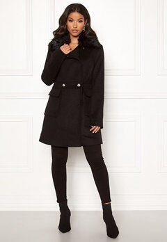 Guess Lucina Coat Jet Black Bubbleroom.se
