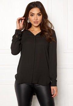 VILA Lucy L/S Shirt Black Bubbleroom.se